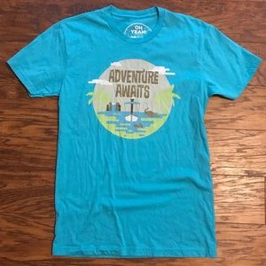 "Blue ""Adventure Awaits"" Jungle Cruise T-shirt"